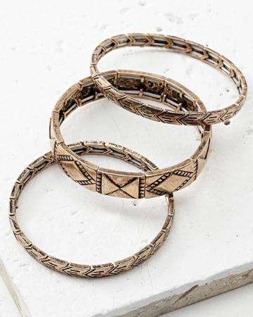 Picture of Geo Charm Bracelet Set