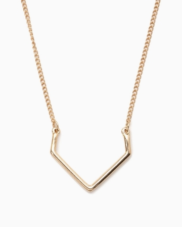 Picture of Curved Pendant Necklace