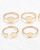 Picture of Hammered Ring Set